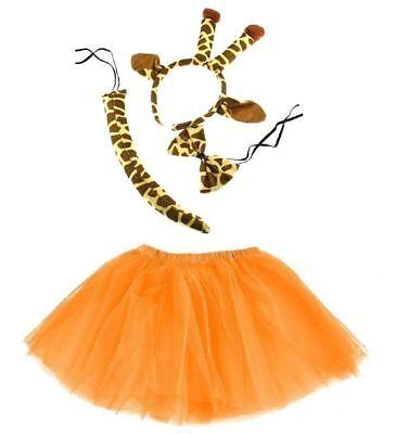 Giraffen KOSTÜM Mädchen od. Damen Verkleiden Fasching Karneval Halloween ()
