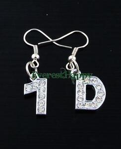 12pairs-1D-One-Direction-Crystal-letter-Earrings-Fans-women-Girls-Jewelry-Lots