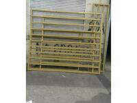 6 Security grills gold powder coating
