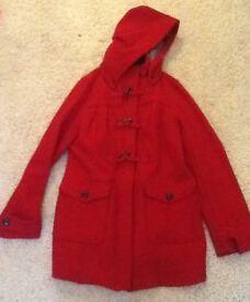 Women's Mantaray red duffle coat size 12 - £15