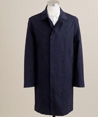 JCREW Mackintosh Dunkeld coat navy Rain Trench Jacket 06909 $995 Sz. M NEW!