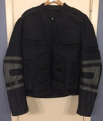 21795325 Custom Built Element Protective Padded Lined Motorcycle Jacket Men's XL