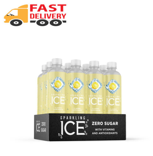 Classic Lemonade, (Pack of 12), Sparkling Ice Naturally Flavored Sparkling......