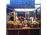 Part Time Job on a Juice Bar/Market Stall