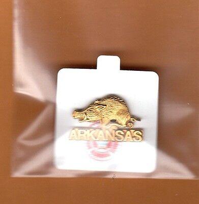 Arkansas Razorbacks Lapel Pins - ARKANSAS RAZORBACKS LAPEL PIN UNSOLD STOCK NCAA LICENSED GO HOGS