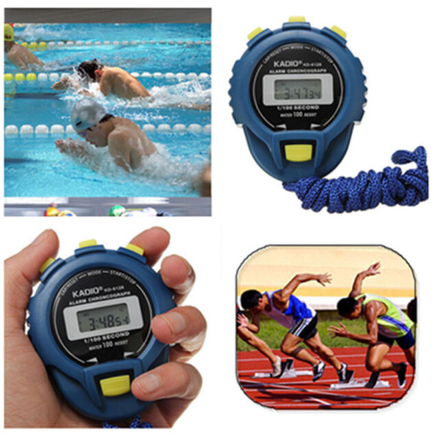 New LCD Digital Chronograph Timer Stopwatch Sport Counter Odometer Watch Alarm P