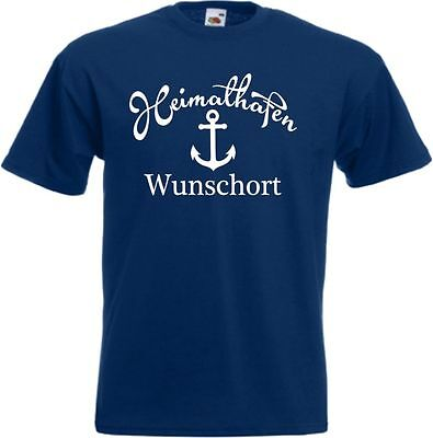 Heimathafen Anker T Shirt Wunschort Hipster Segeln Boot Hafen Kult Klamotten