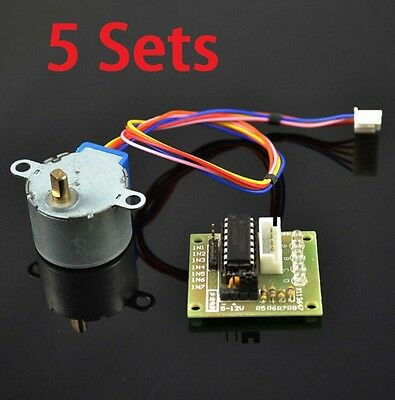 5set Dc 5v Stepper Motor 28byj-48 Uln2003 Driver Test Module Board For Arduino