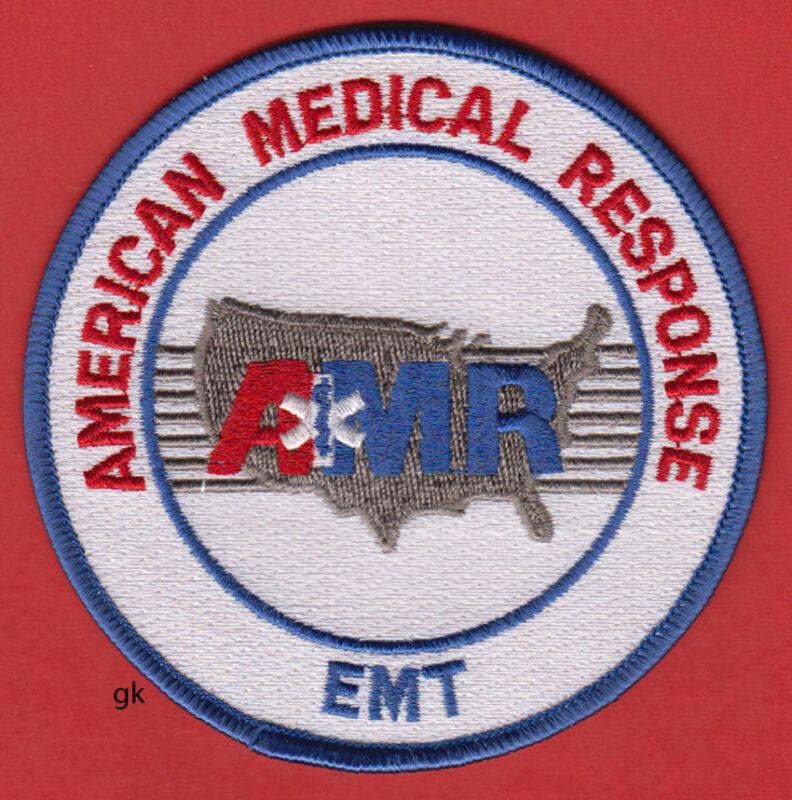 AMERICAN MEDICAL RESPONSE AMR EMT SHOULDER PATCH (White)