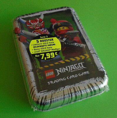 Lego® Ninjago™ Serie 3 Mini Tin Silber inkl. Limited Karte 5 booster und Figur