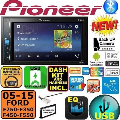 Used, 2005-2015 FORD F250/350/450/550 PIONEER TOUCHSCREEN USB AUX BLUETOOTH CAR Stereo for sale  Bradenton