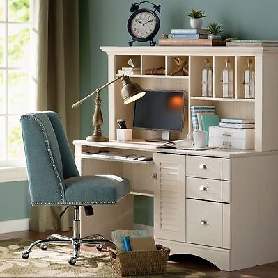 Office Desk with Hutch Sauder Retirement community Computer CPU Storage Shabby Chic Furniture