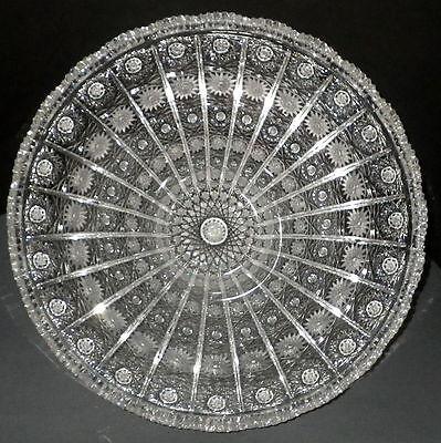 große Schale Bleikristall Pariser Stern Schliff D31cm