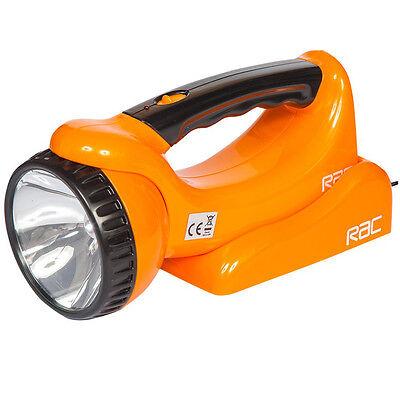 RAC Rechargeable LED Torch Lantern + Pivot Head Spotlight + Wall Mount Charger Led Pivot Spotlight
