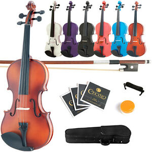 Mendini-Solid-Wood-Violin-Size-4-4-3-4-1-2-1-4-1-8-1-10-1-16-1-32