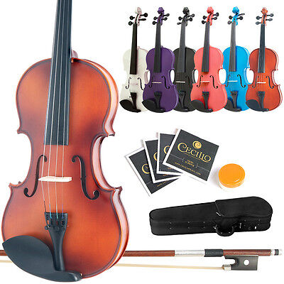 Купить Mendini Student Violin Package in 7 Finishes & 8 Sizes +Case+Bow+Extra Strings
