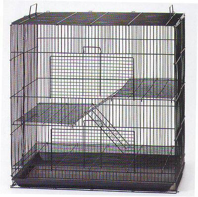 3 Level Black Chinchilla Guinea Pig Small Animal Rat Mice...