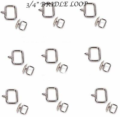 """Pack of 6 Horse Saddle Tack Hardware Concho 3/4"""" Bridle Loop Screw Adapter 40302"""