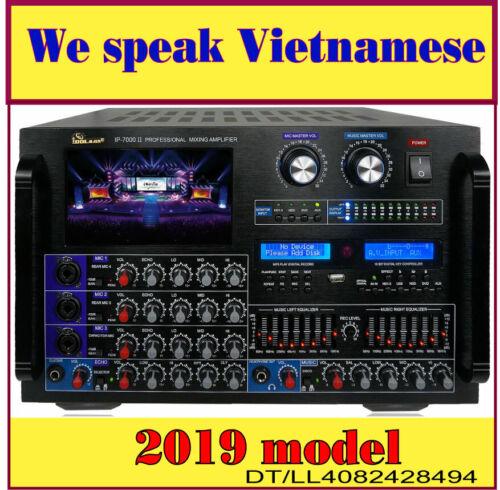 "IDOLmain IP-7000 II 8000W Pro KARAOKE Amplifier EQ, 7"" LCD & Recorder /bluethoot"
