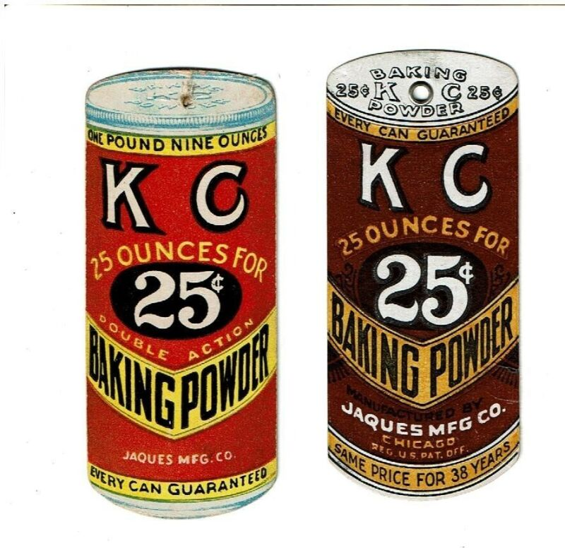 Two Die cut Ad Premiums for KC Baking Powder c1900