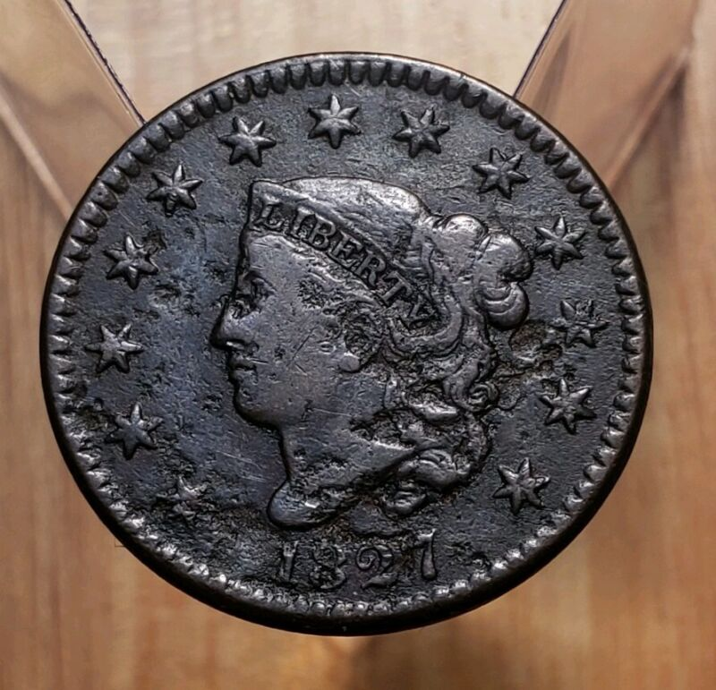 1827 Matron/Coronet Head Large Cent Coin