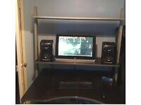 large 3 tier desk