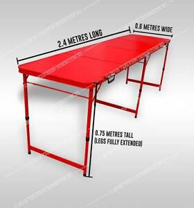 Brand New RED FRAME CAMPING TABLE 2.4m (Limited Stock Available)