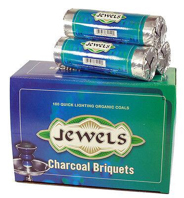 Jewels Charcoal Briquets Quick Lighting Organic Coals for Hookah 1 Box/10 Rolls