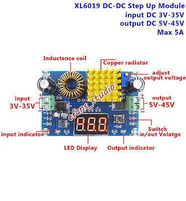 Dc-dc Boost Step Up Converter Power Supply Module 3-35v To 5v-45v 9v 12v 24v 36v