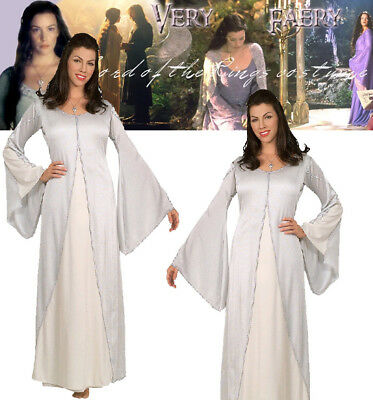 LICENSED ARWEN COSTUME LORD OF THE RINGS ADULT WOMENS ELF WHITE FAIRY BOOK WEEK ](Elf Costume Lotr)