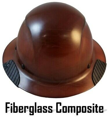 Dax Fiberglass Composite Lift Safety Full Brim Hard Hat - Natural Tan