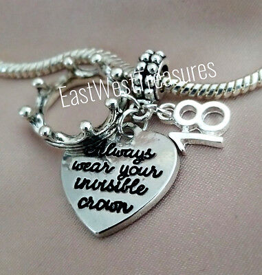 18 18th birthday always wear your invisible crown Pendant gift for 18 year old  (Gifts For A 4 Year Old)