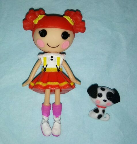 Ember Flicker Flame Mini Lalaloopsy Doll With Pet Dalmation Fireman - $3.49