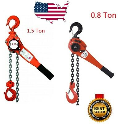 0.8 1.5 Ton Lever Block Chain Hoist Ratchet Type Comealong Puller Lifter