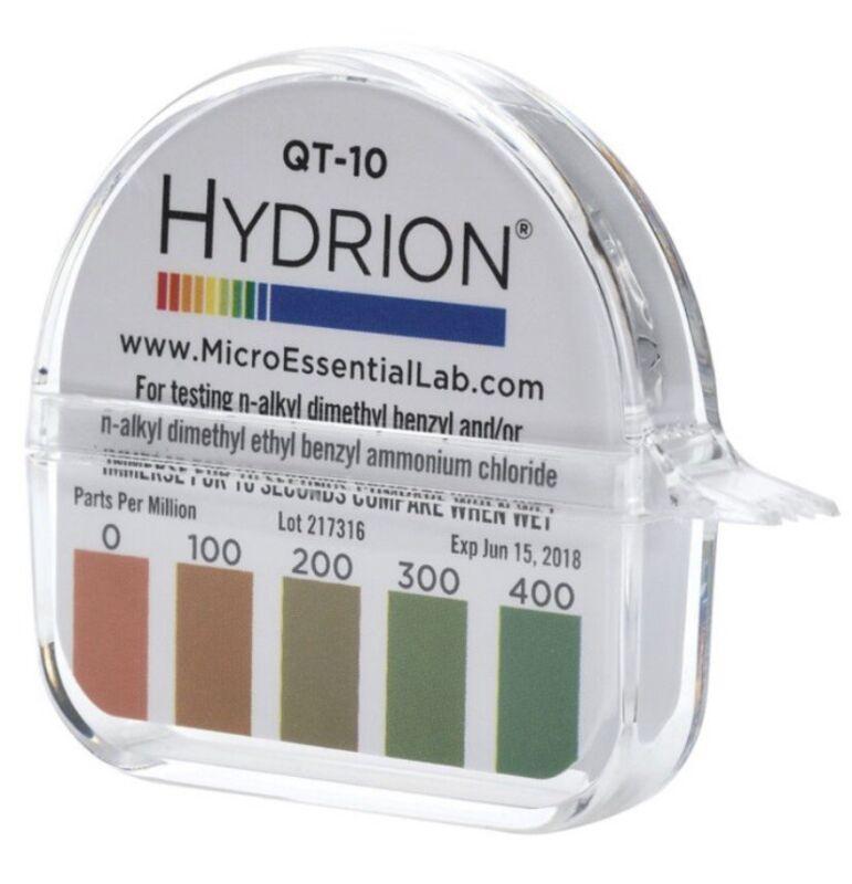 HYDRION QT-10 Sanitation Sanitizer Test Paper Strip Roll Fresh & FREE Shipping!