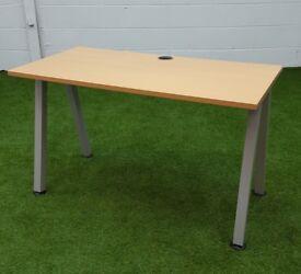 Beech angled leg desk cheap