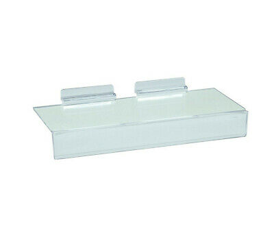 4 X 10 Inch Slatwall Clear Acrylic Shoe Shelf 1 Inch Sign Holding Slot