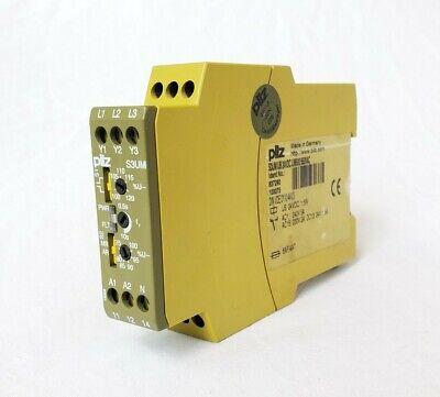 Pilz S3umub 24vdcum500550vac Safety Monitoring Relay