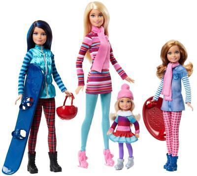 Barbie Sisters Winter Getaway Fashion Dolls Set