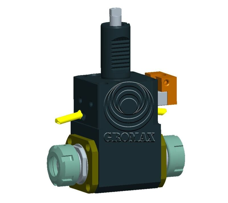 FL4018093285D CNC Lathe VDI Double Heads Radial Drilling-Milling Holder D=40mm