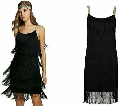 Adult Long Flapper Kostüm schwarz 1920er Jahre Gatsby Damen Kostüm Outfit - 1920er Jahren Flapper Kleid Kostüm