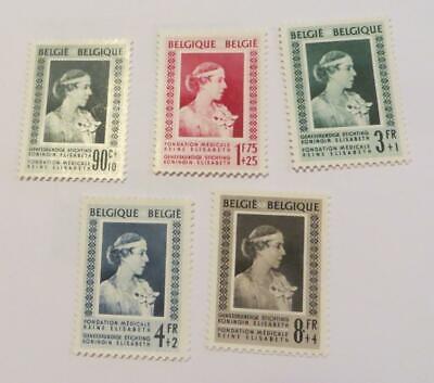 Belgium 1951 Queen Elizabeth Medical Fund set unused