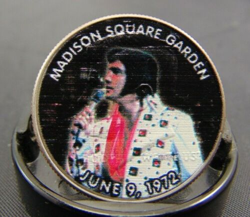 Elvis Presley Tribute Coin Madison Square Garden Colorized Kennedy Half Dollar