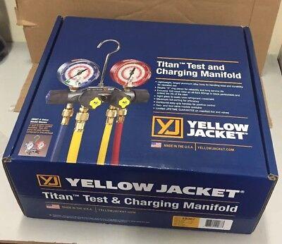 Yellow Jacket Titan 4v R22r40ar410 Manifold W60 Ryb 38 45 Hoses 49967