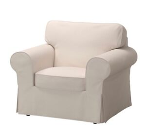 IKEA Ektorp beige sofa chair used once for staging
