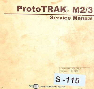 Southwestern Industries Prototrak M2 M3 Milling Machine Service Manual 1997