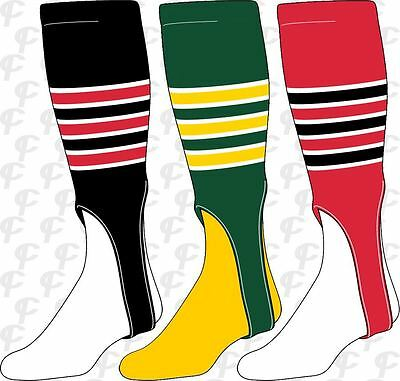 TCK Twin City 3-Stripe w. Outline Stirrups Baseball Softball Stirrup Socks Softball Stirrup Socks