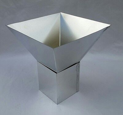 """6"""" x 6"""" FOUR SIDED PYRAMID PILLAR METAL CANDLE MOLD NEW"""