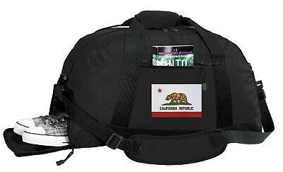 California Flag Duffel Bag BEST DUFFLE GYM Travel Bags OUTSIDE SHOE