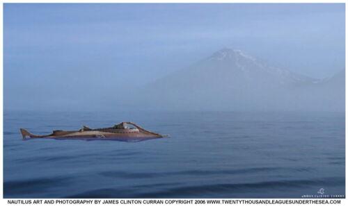 DISNEY 20,000 LEAGUES UNDER THE SEA Jules Verne NAUTILUS SUBMARINE 17x11 POSTER